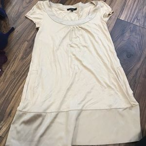 Express gold dress with pockets
